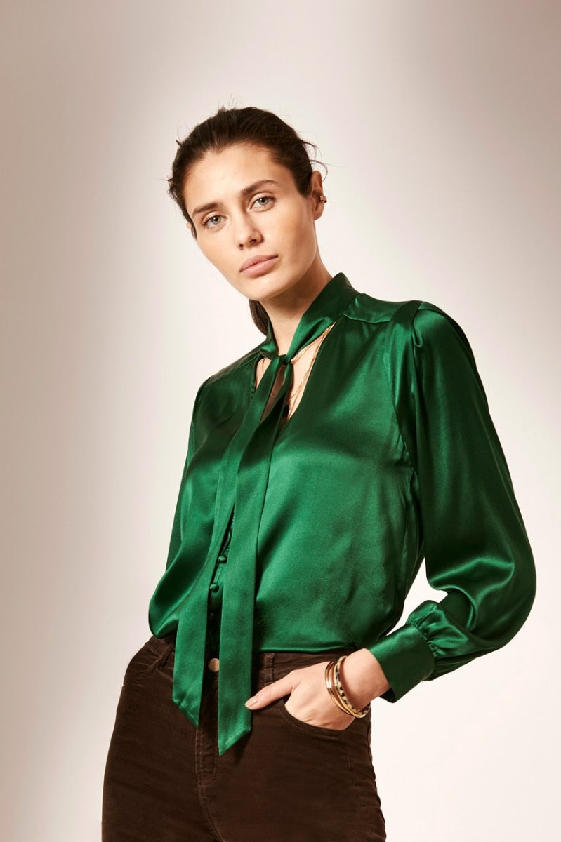 MILLER silk stretch blouse