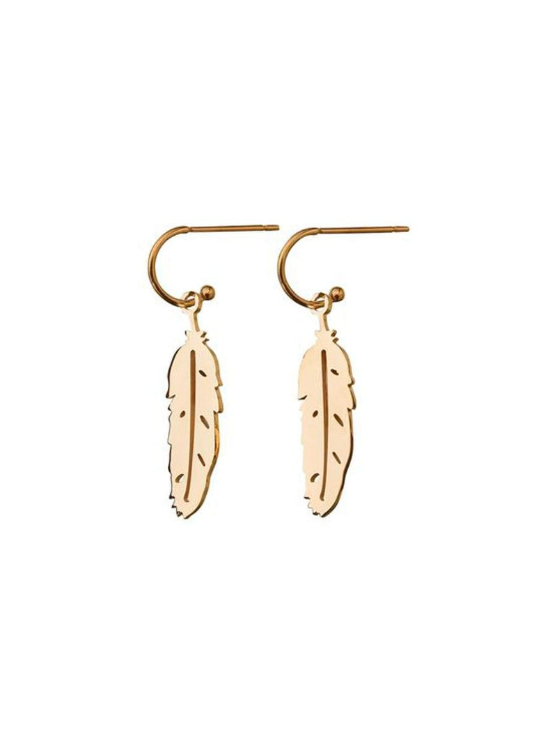 Edbladin Feather Earrings värissä Gold.