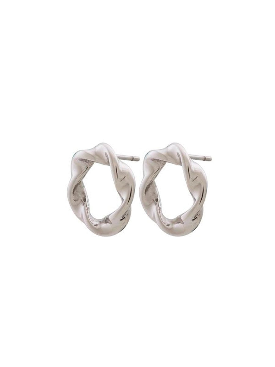 Edbladin Swirl Earrings värissä Silver.