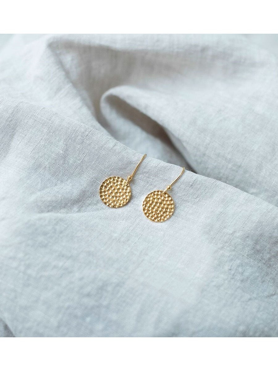 DISK earrings hammered