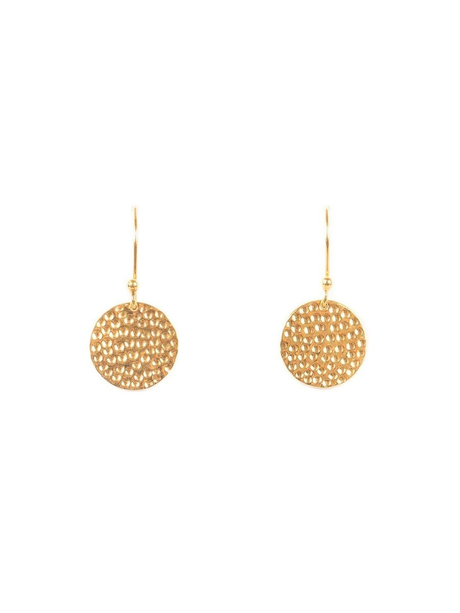 Gauharin Disk earrings värissä Gold.