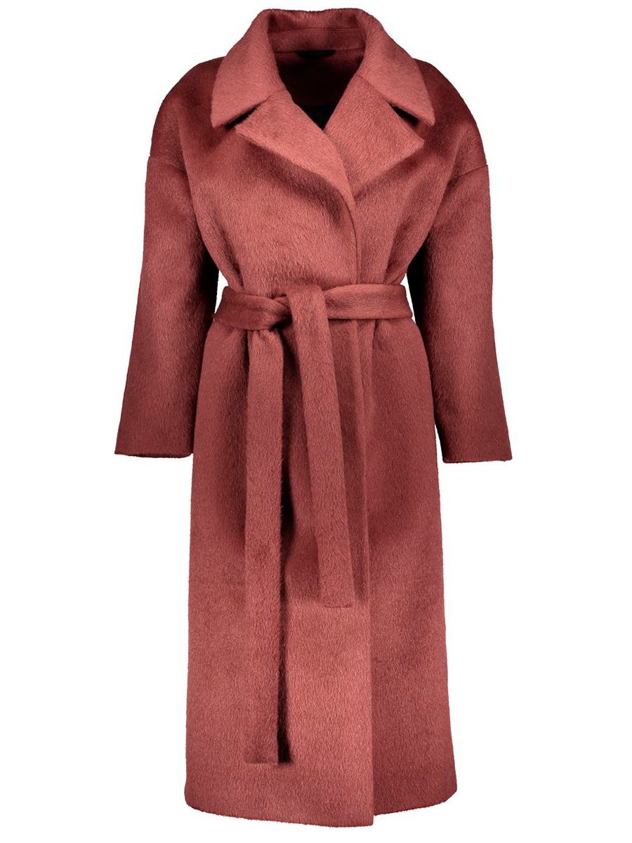 Hálon Kaamos long coat värissä Red.