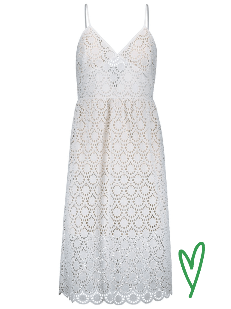 Hálon Neva lace dress värissä White.