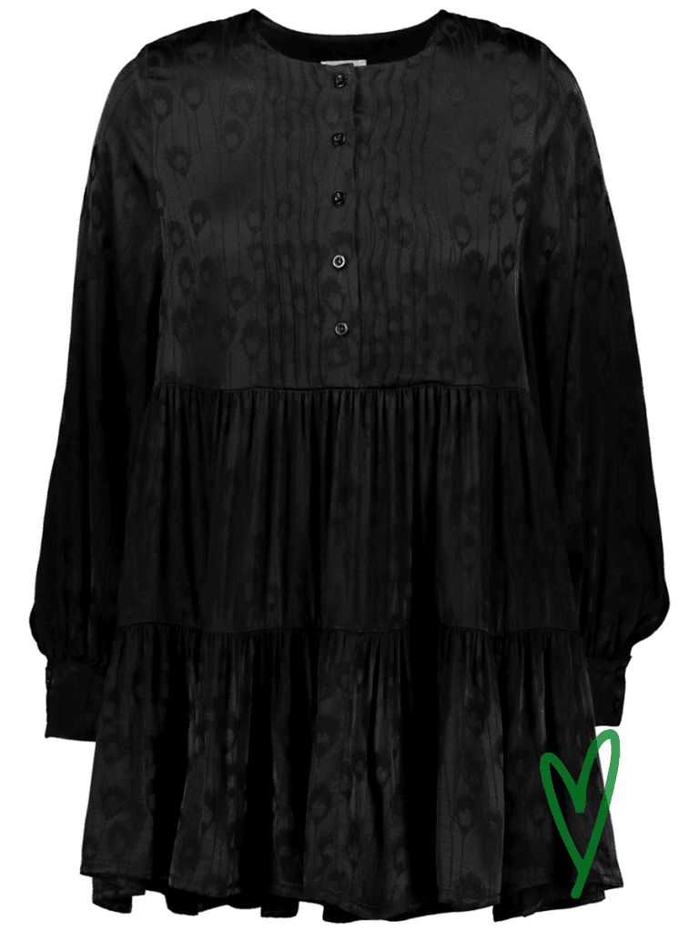 Halon Neva mini bell dress värissä Black.