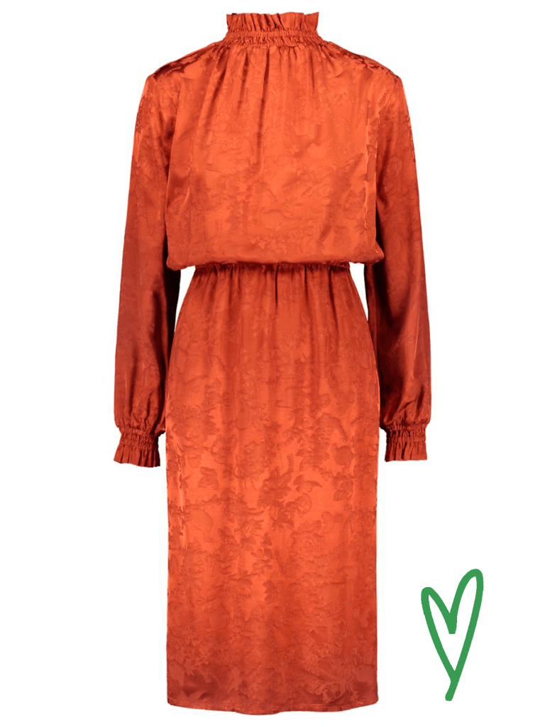 Halon Ruska midi dress värissä Orange.