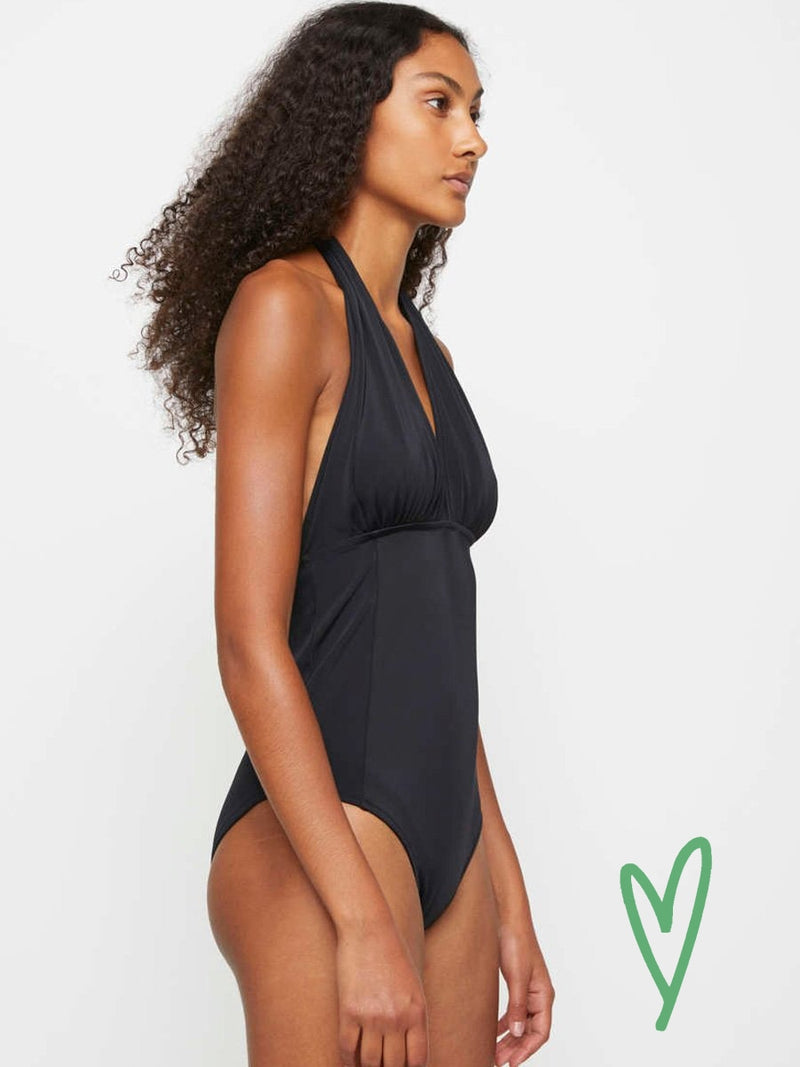 Just Female PAM tie swimsuit uimapuku värissä black