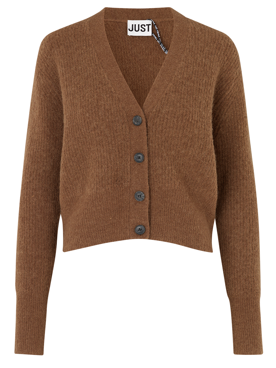 Just Femalen Rebelo knit värissä Brown.