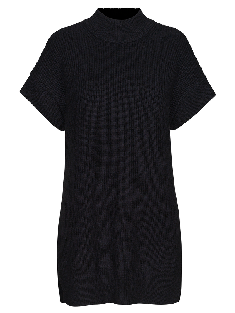 Just Femalen Sophie knit west värissä Black.