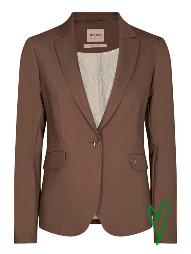 Mos Moshin Blake Night Blazer värissä Brown.