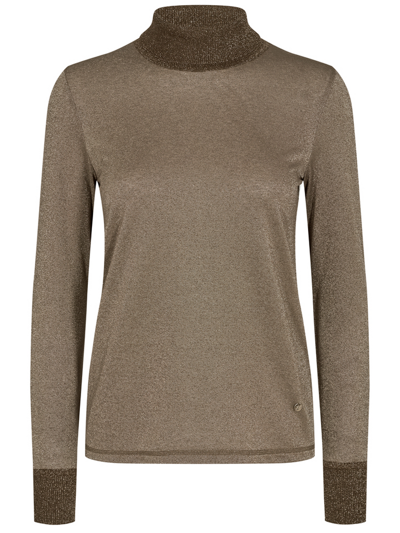 Mos Moshin Casio roll neck tee värissä Brown.