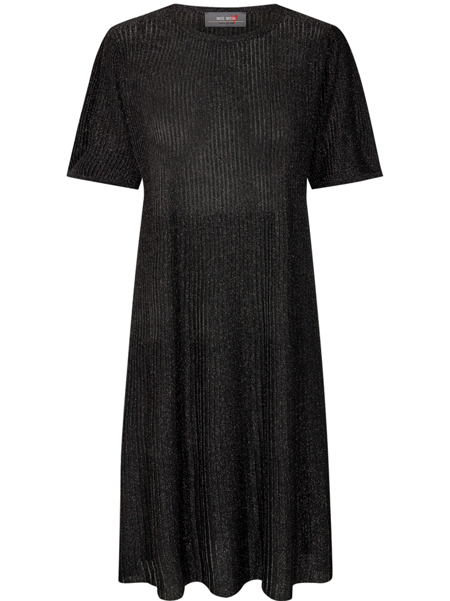 Mos Moshin Meta knit dress värissä Black.
