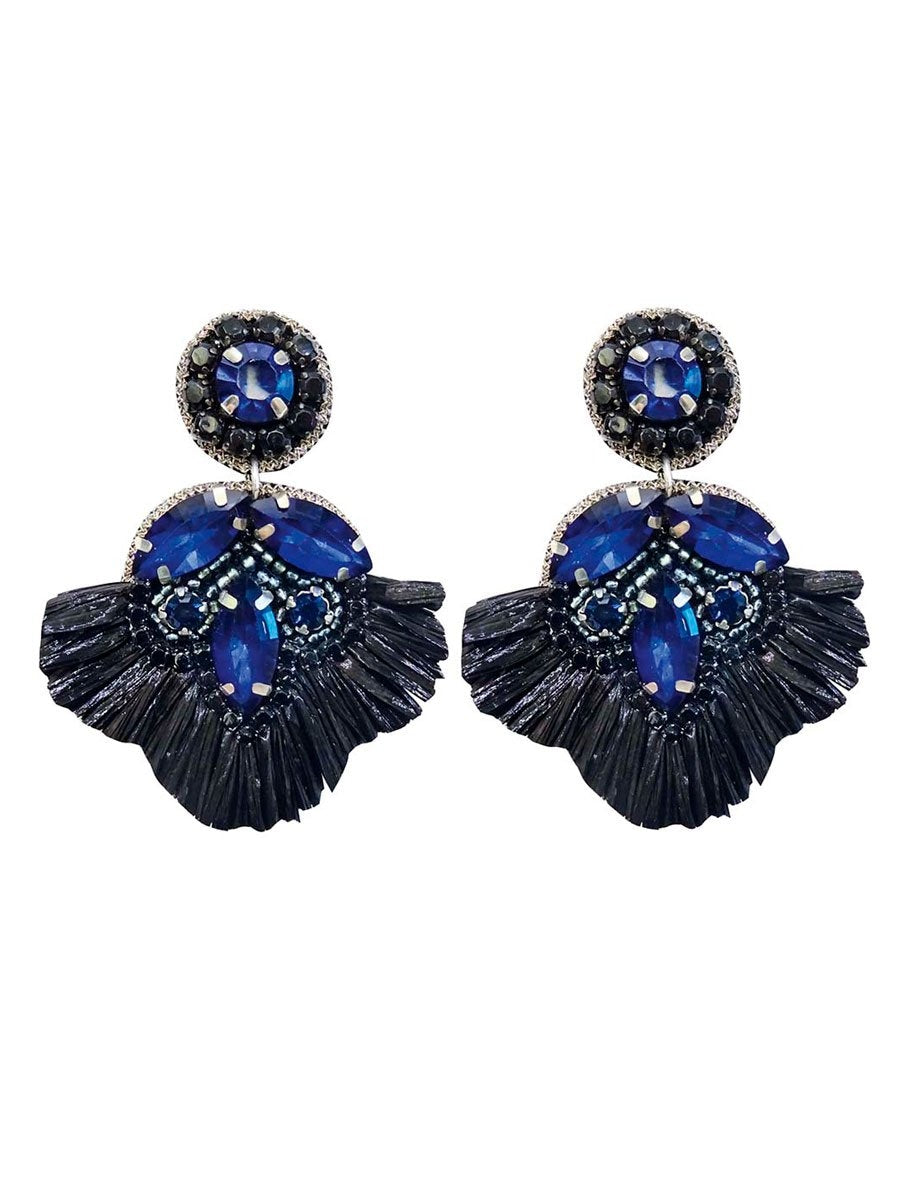 Pipol's Bazaarin Flavour Fringe Earrings värissä Blue.