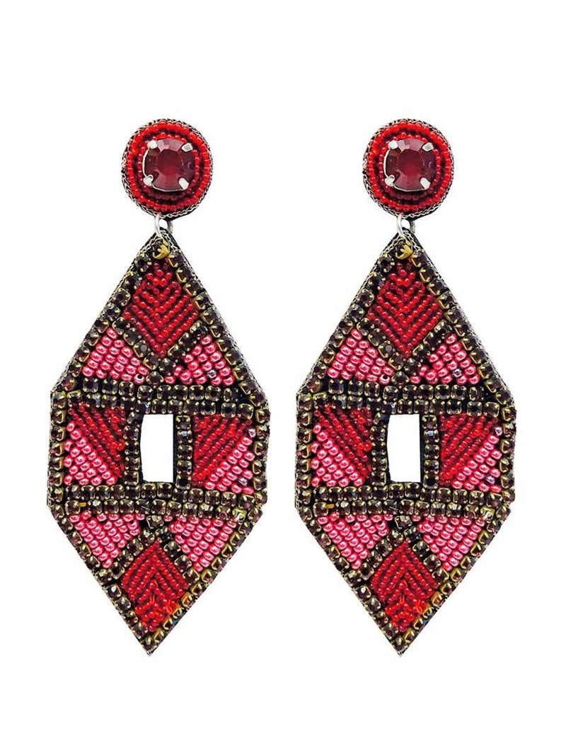 Pipol's Bazaarin Inka earrings värissä Red.