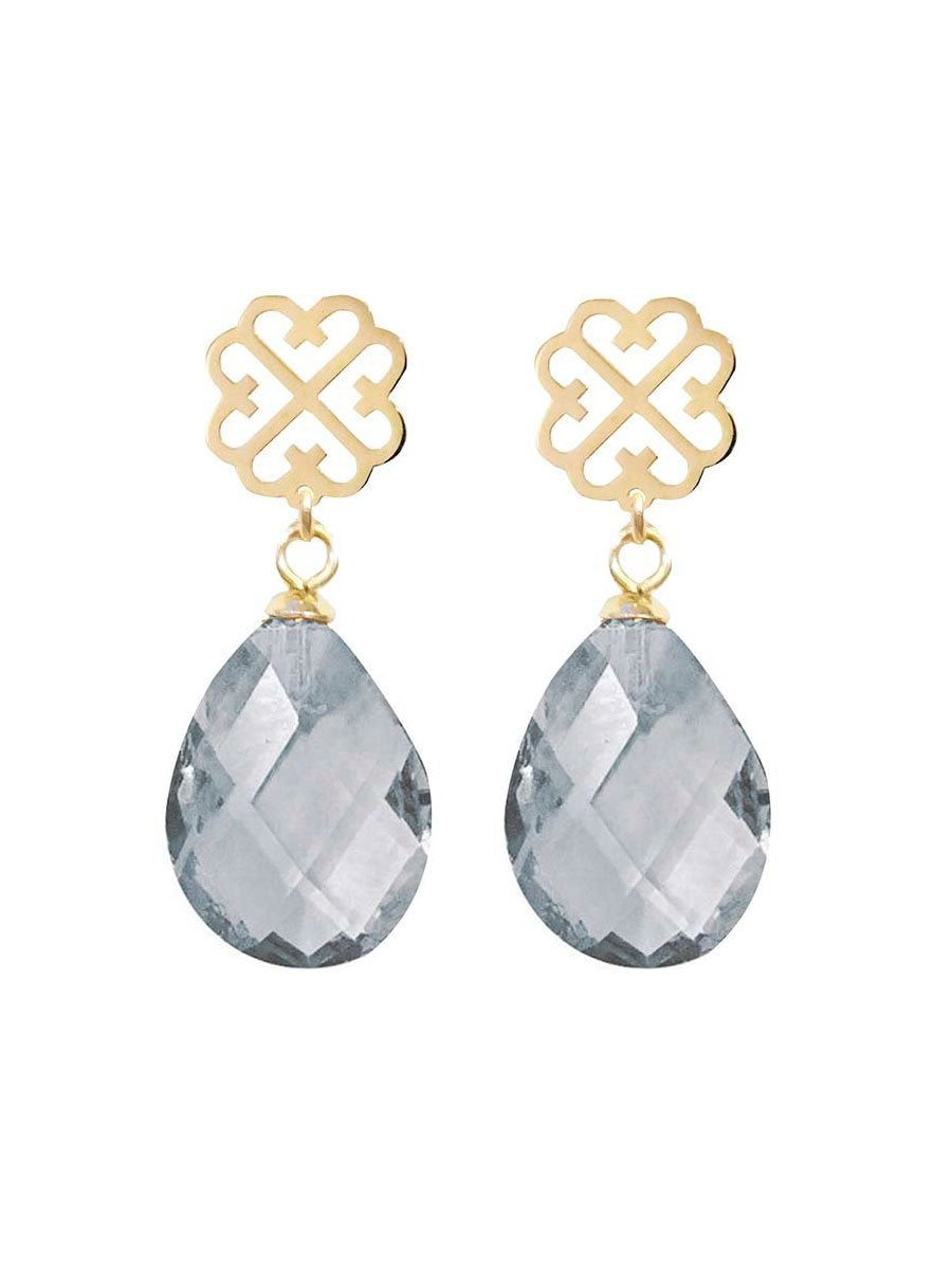 Pipol's Bazaarin Lola Drop Earrings värissä Grey.