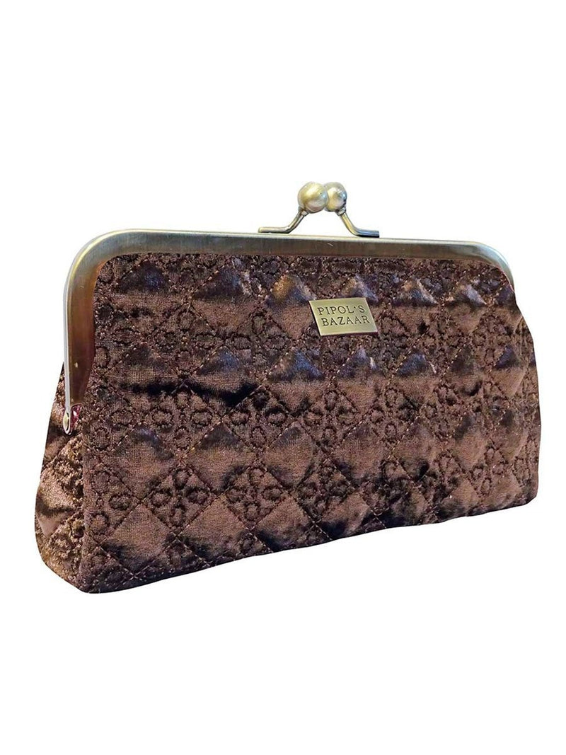 Pipol's Bazaarin Velvet Cosmetic Bag värissä Brown.
