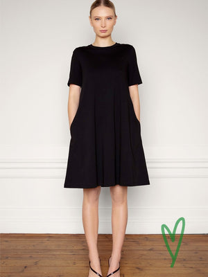 Residus OFELIA organic cotton dress mekko värissä black