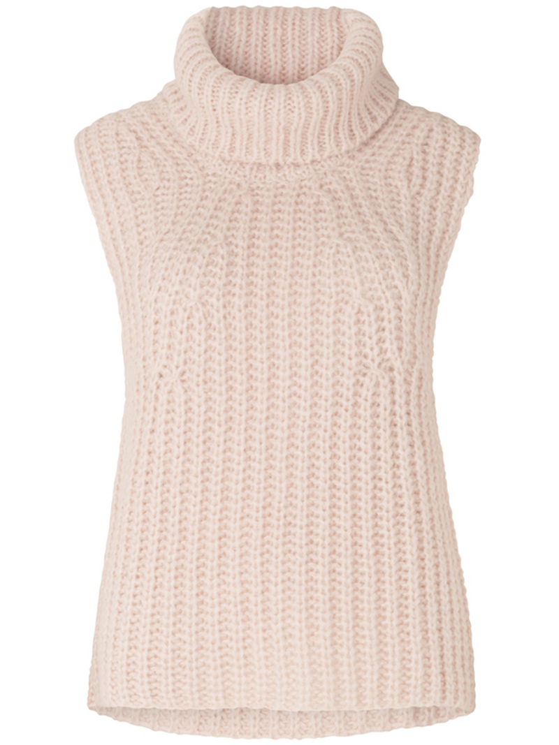 Second Femalen Ivory Knit vest värissä white.