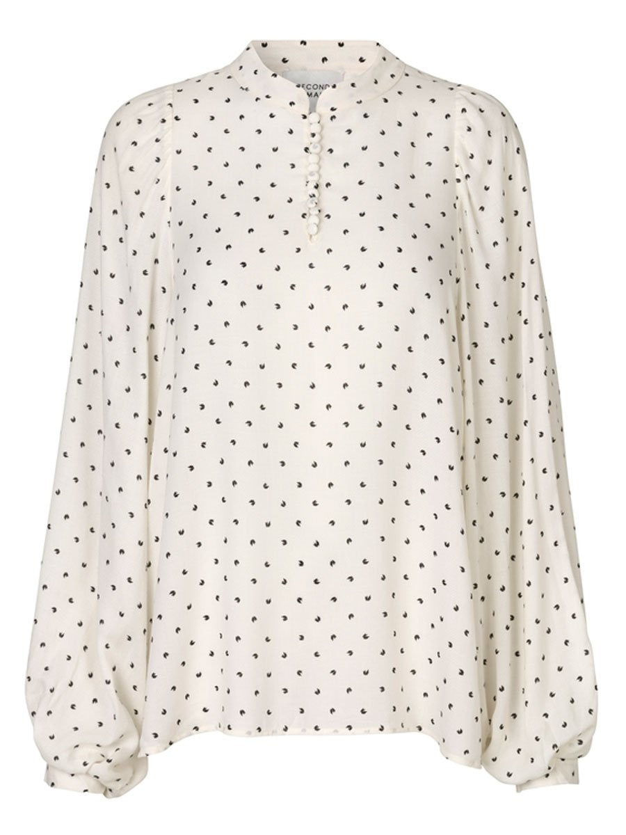 Second Femalen Karo blouse värissä White.