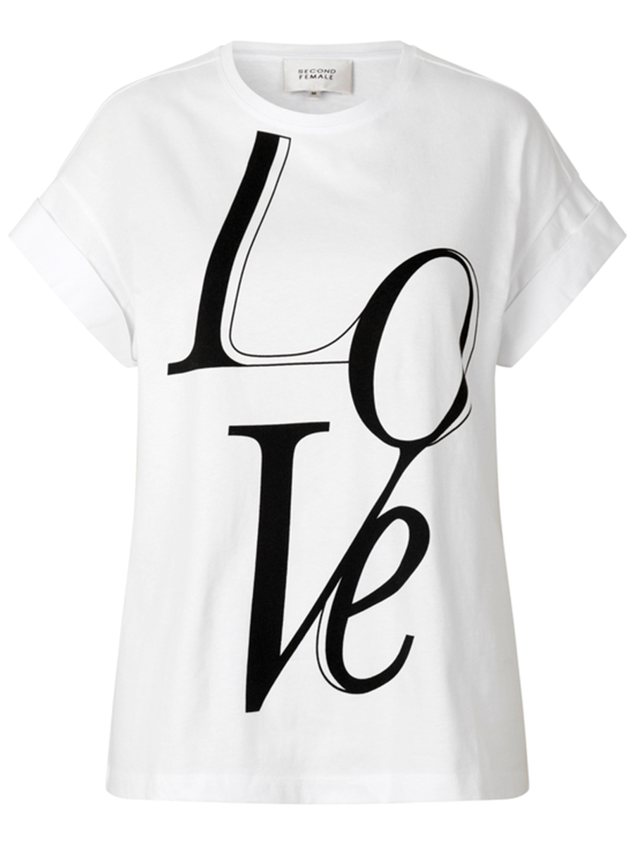 Second Femalen Love tee värissä White.