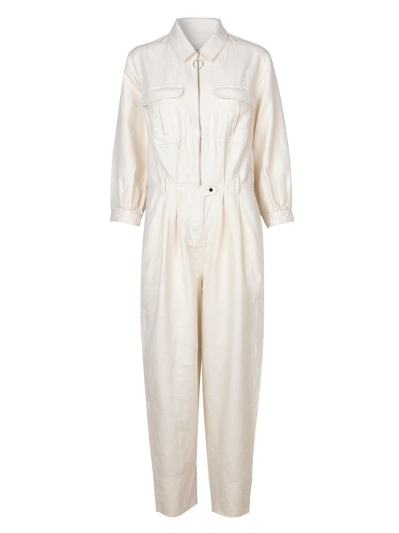 Second Femalen Selene jumpsuit värissä White.
