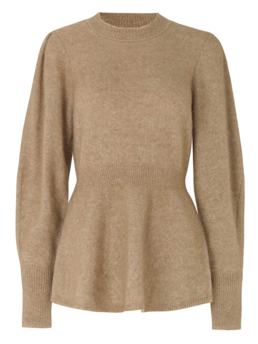 Second Femalen Brooky knit värissä Beige.