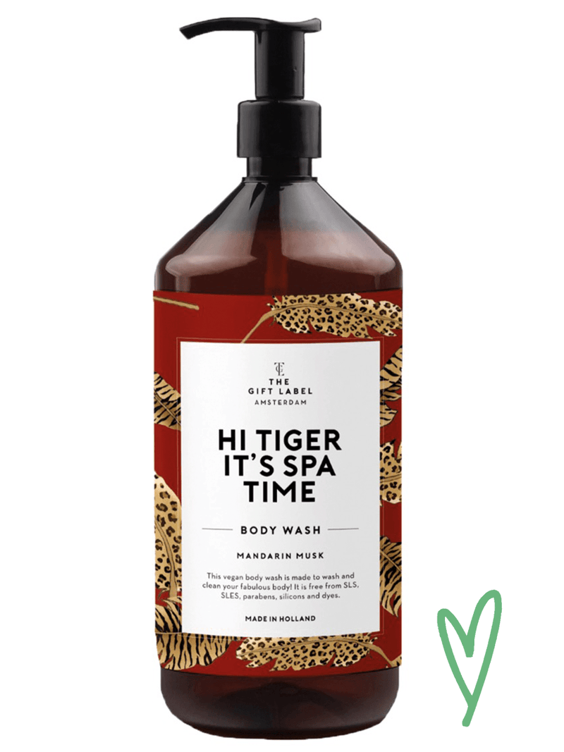 The Gift Labelin Hi tiger Body wash.