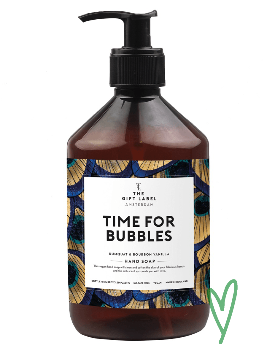 The Gift Labelin Time for Bubbles Hand soap.