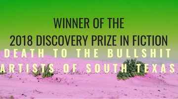News: Death to the Bullshit Artists of South Texas wins Fiction Discovery Prize