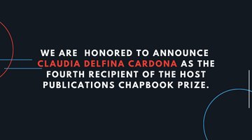Announcing Fall 2020 Chapbook Prize Winner: Claudia Delfina Cardona