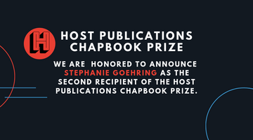 Announcing Fall 2019 Chapbook Prize Winner