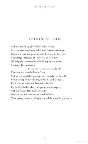 Return to Calm by Jacques Réda