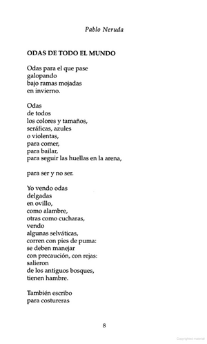 Fifty Odes by Pablo Neruda