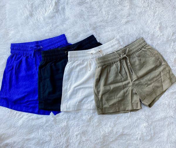 Linen Draw String Shorts