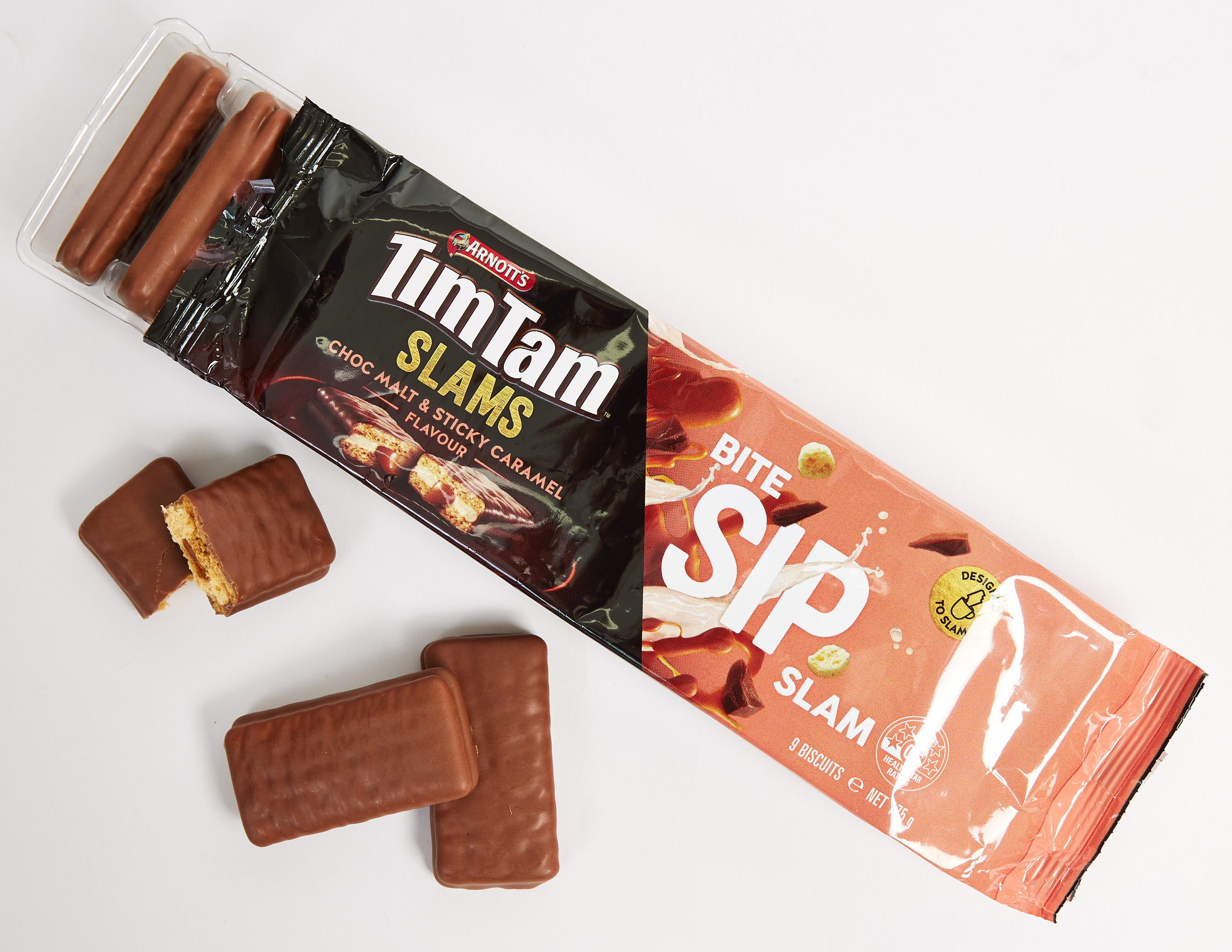 Arnotts Tim Tam Slams Choc Malt & Sticky Caramel