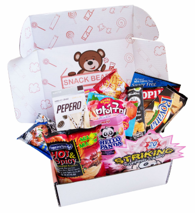 A box of Asian snack box from Snack Bears
