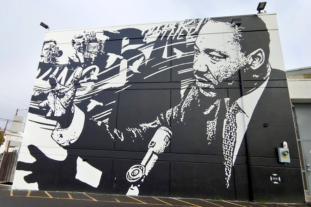 Martin Luther King Jr. Mural // 20x21 Mural Project // Photo taken by Ashley Villavicencio