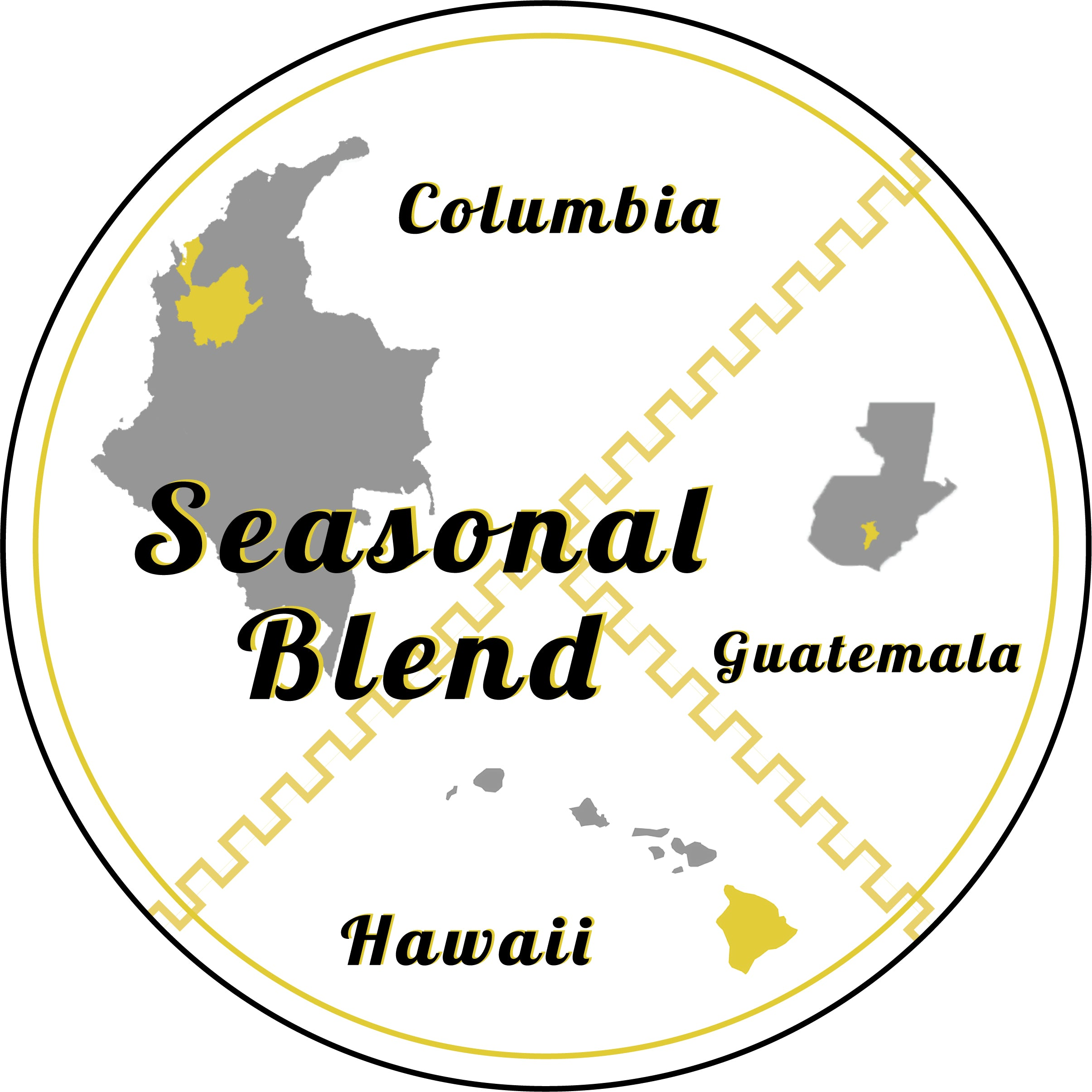 Goldilocks Seasonal Blend: Columbian, Guatemalan, and Kona