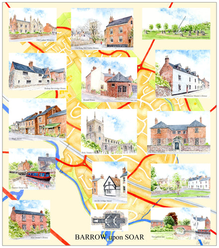 Barrow upon Soar village Places of Interest (Lock Map)