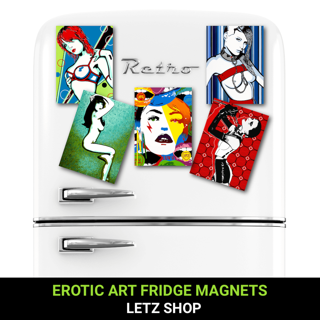 Buy Erotic Art Fridge Magnets by Artist Anita Nevar | Ravenged.