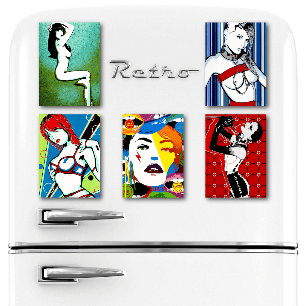 Buy Erotic Art Fridge Magnets Set | Home Decor Kitchen Gadget | Ravenged by Artist Anita Nevar.