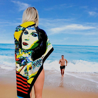 Shop BOMBSHELL Erotic Art Beach Towels by Ravenged | For Surf, Gym, Pool, Bath.