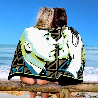 Shop THE BUSINESS MAN Erotic Art Beach Towels by Ravenged | For Surf, Gym, Pool, Bath.