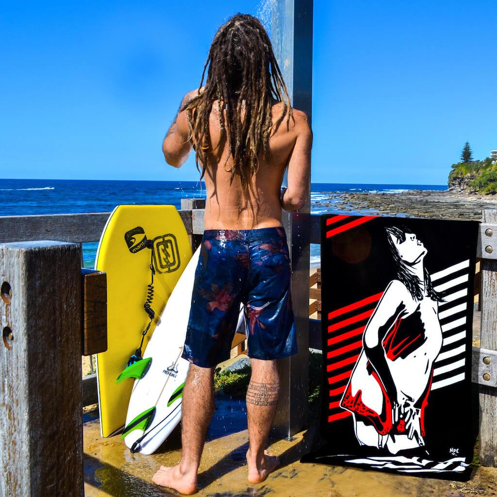 Shop I TOUCH MYSELF Erotic Art Beach Towels by Ravenged | For Surf, Gym, Pool, Bath.