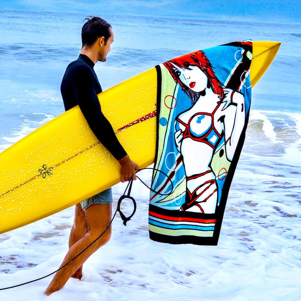 Shop SEDUCE ME Erotic Art Beach Towels by Ravenged | For Surf, Gym, Pool, Bath.