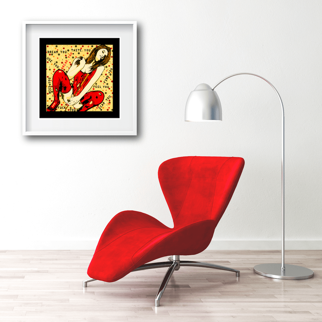 Buy BREAK YOU Erotic Art Prints by Artist Anita Nevar | Ravenged Online Store.