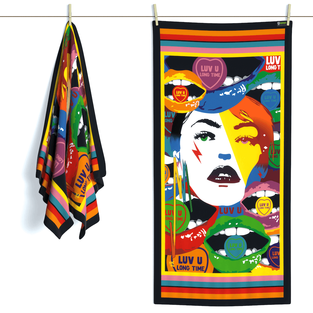 Shop LUV U LONG TIME Erotic Art Beach Towels by Ravenged | For Surf, Gym, Pool, Bath.