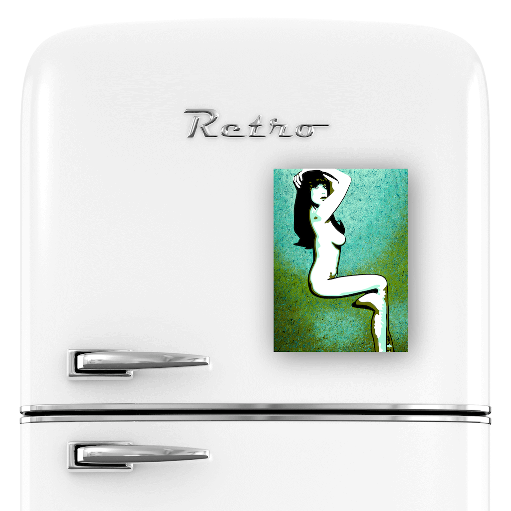 Buy MISS DAISY Erotic Art Fridge Magnet | Home Decor Kitchen Gadget | Ravenged by Artist Anita Nevar.