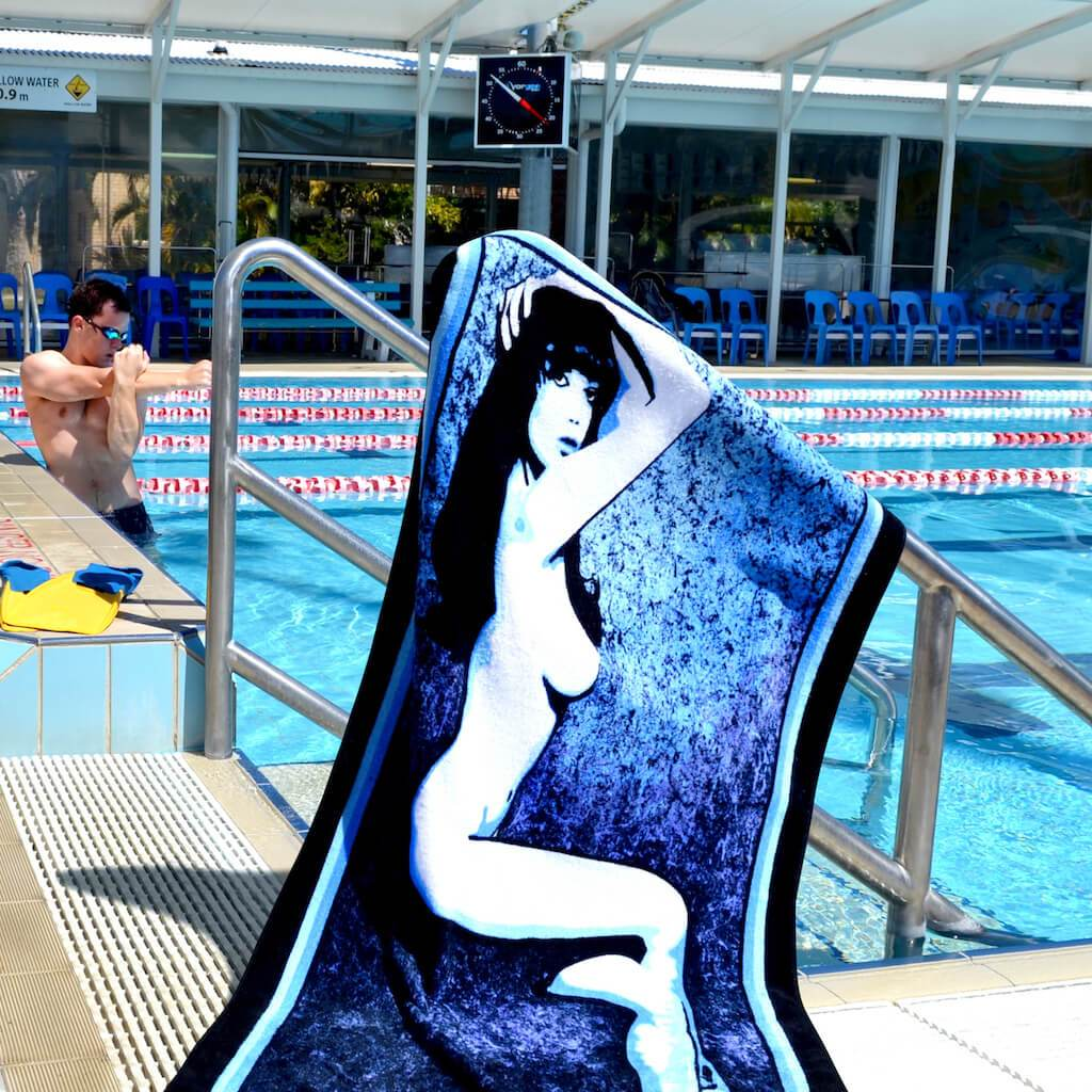Shop MISS DAISY Erotic Art Beach Towels by Ravenged | For Surf, Gym, Pool, Bath.