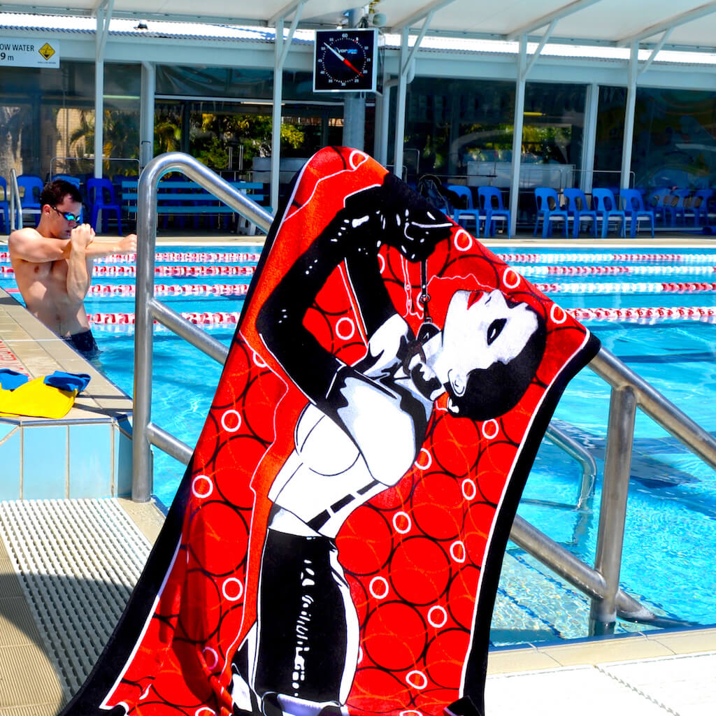 Shop SISTER MIDNIGHT Erotic Art Beach Towels by Ravenged | For Surf, Gym, Pool, Bath.