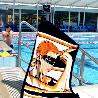 Shop WHO'S THAT GIRL Erotic Art Beach Towels by Ravenged | For Surf, Gym, Pool, Bath.